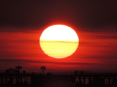 Brighton Pier sunset.