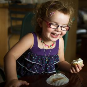 Danika's first lick of icing on a cupcake sparks this emotional response, pure joy.