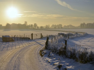 Snowy Road to Ducketts Grove