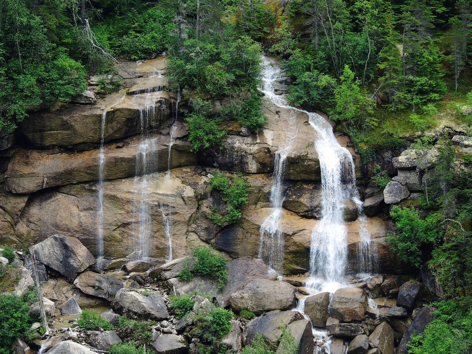 A waterfall in Alaska, USA