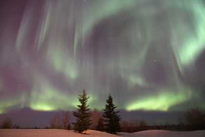 Northern Lights Fill the Sky