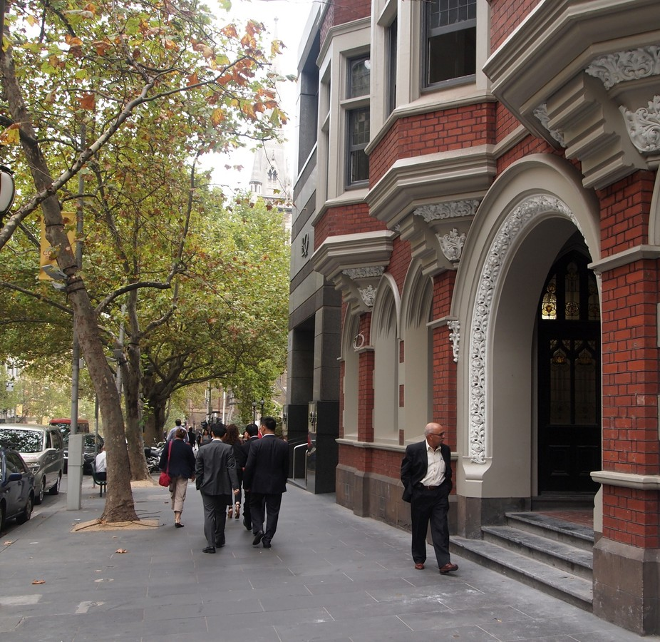 Collins Street, Melbourne at lunchtime
