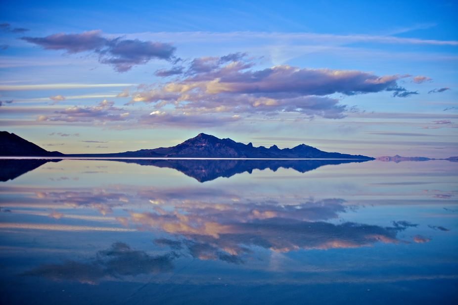Bonneville Salt Flat Sunset