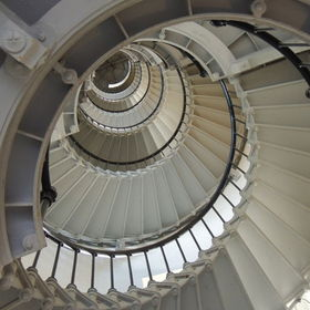 lighthouse spiral stairs..