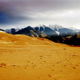 Misty Great Sand Dunes at Dawn
