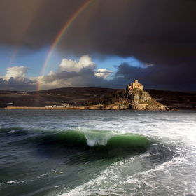 A pleasant surprise after a morning of storms, at St Michaels Mount, Cornwall