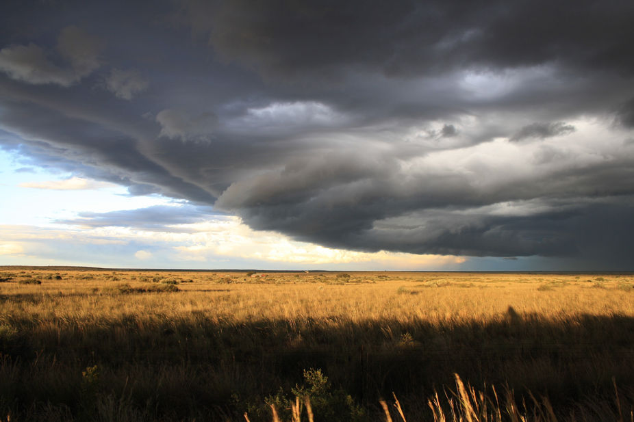 An approaching storm, taken in the Kalahari