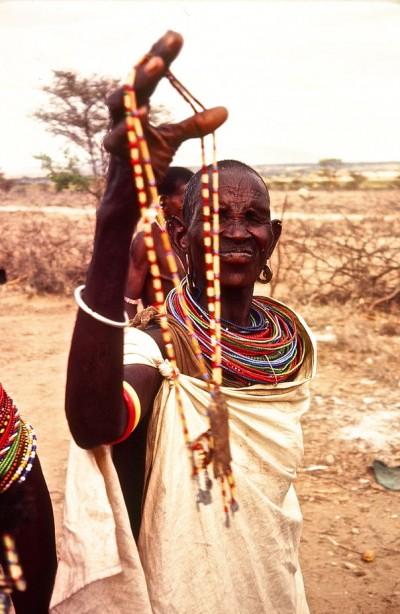 Masai with her jewelry