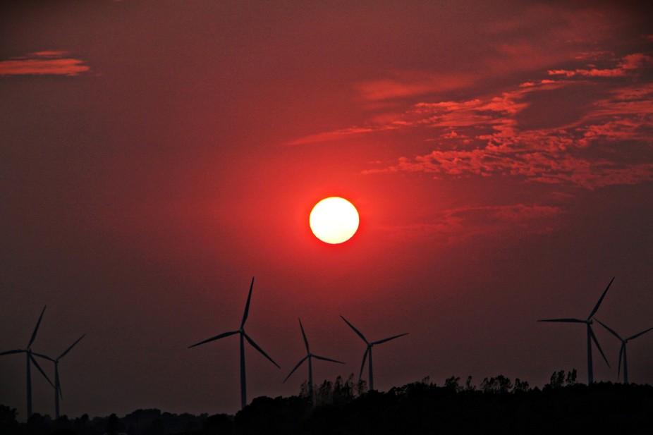 Windmill Sunset.
