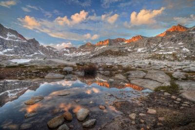 Sunset in the Nine Lake Basin