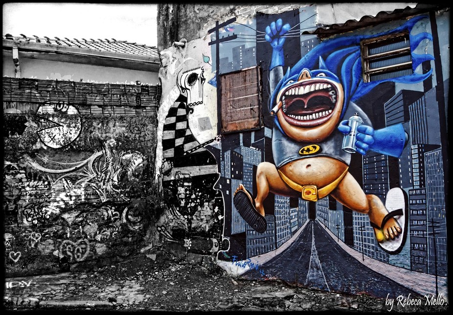 """Alley of Batman"" is an alley here in São Paulo , Brazil,  a place of totally full o..."