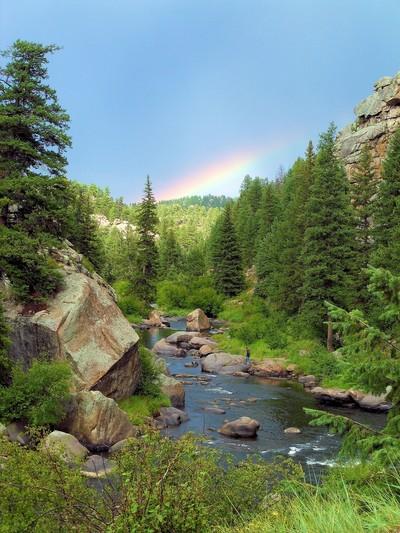 Rainbow in the Horizon