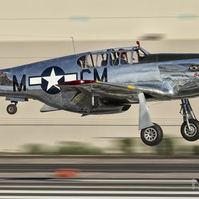 P-51C Betty Jane Landing at Scottsdale
