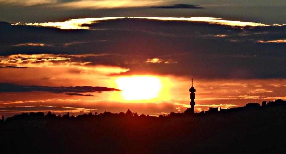 Sunrise over Johannesburg, South Africa