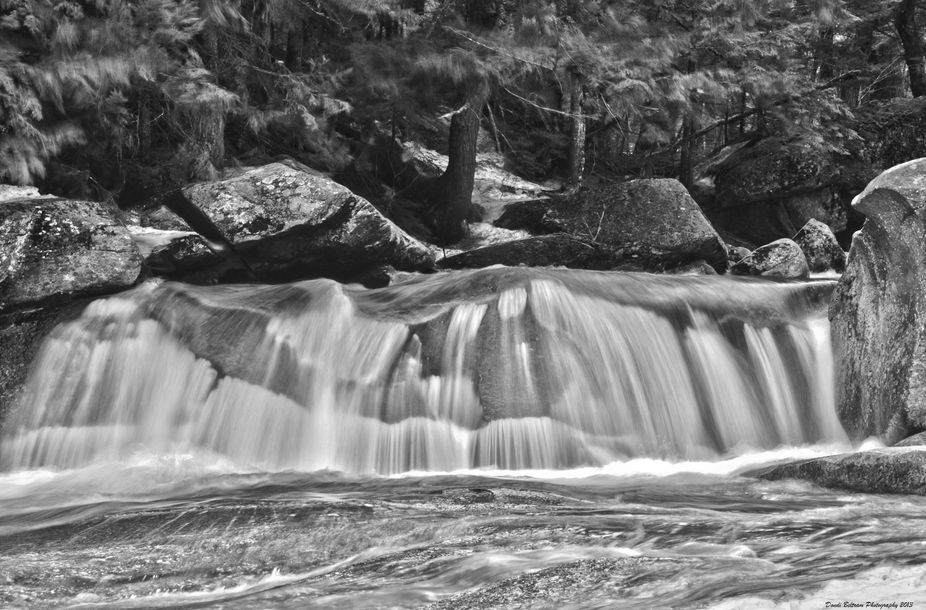 This is the first falls of Screw Auger Falls in Maine