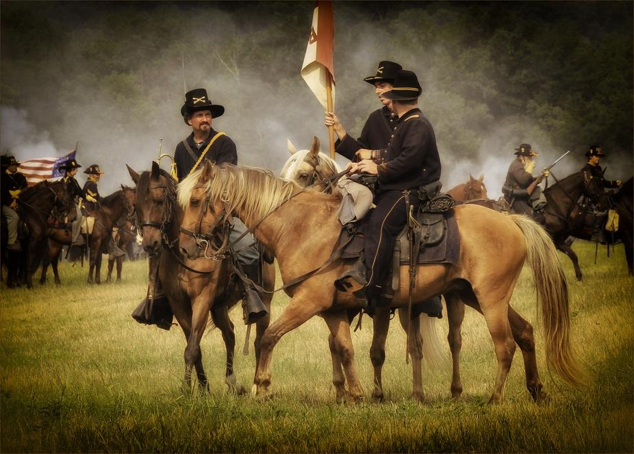Civil War Battle of Manassas Reenactment.
