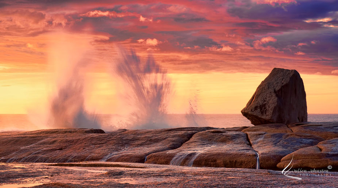 Behind The Lens With julienjohnston - photo Bicheno Blowhole at Sunrise