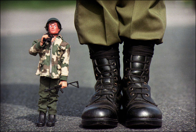 BOOTS ON THE GROUND by LLOYDWRIGHT - 300 Toys Photo Contest