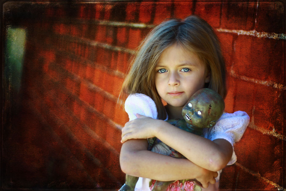 A child\'s unconditional love.  (Also, the only editing I did to her eyes was sharpening. The colo...