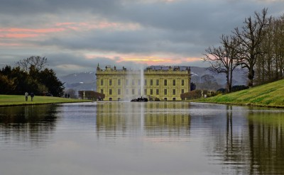 Chatsworth House Cloudy Sunset