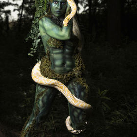 Part of a concept shoot mixing ancient mythology and nature.The Makeup and body effects were done by Christine Torres and my model was Bee Tianna...