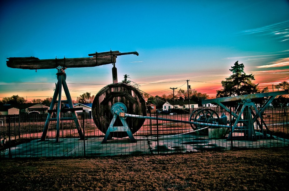 Old Pumpjack in Borger, Texas