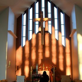 Evening light in our Chapel.