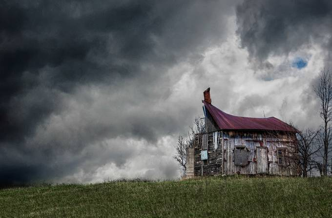 Busted Shack In The Country by PaulMurphy - Isolated Cabins Photo Contest