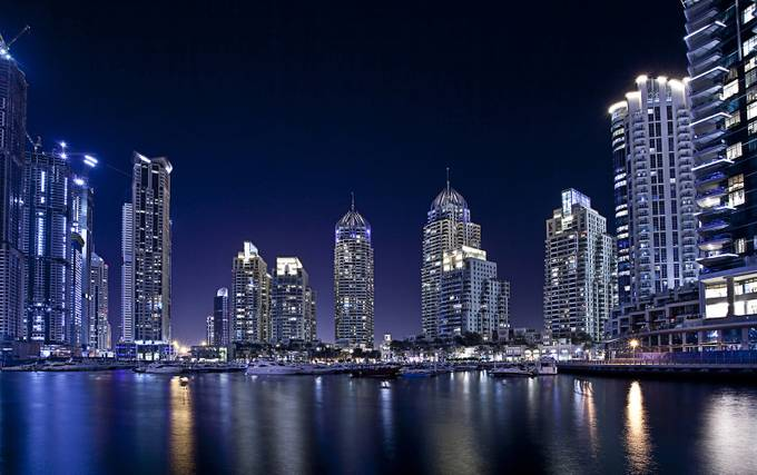 Dubai Marina by altamashuroojsantana - Our World At Night Photo Contest