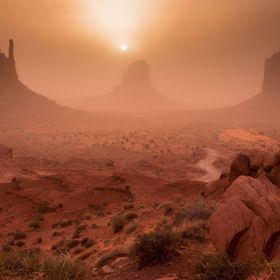 Monument Valley Sandstorm Sunrise V2
