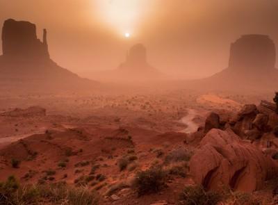 Monument Valley Sandstorm Sunrise V2