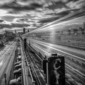 Subway train moving the million of people that make New York City the greatest city in the world.  If you like to see more of my work please visi...