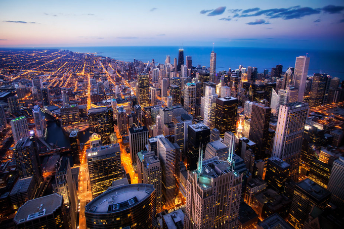 Chicago Skyline from the Willis Tower by Michael Matti by MichaelMatti