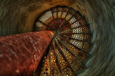 Down the Lighthouse Stairs