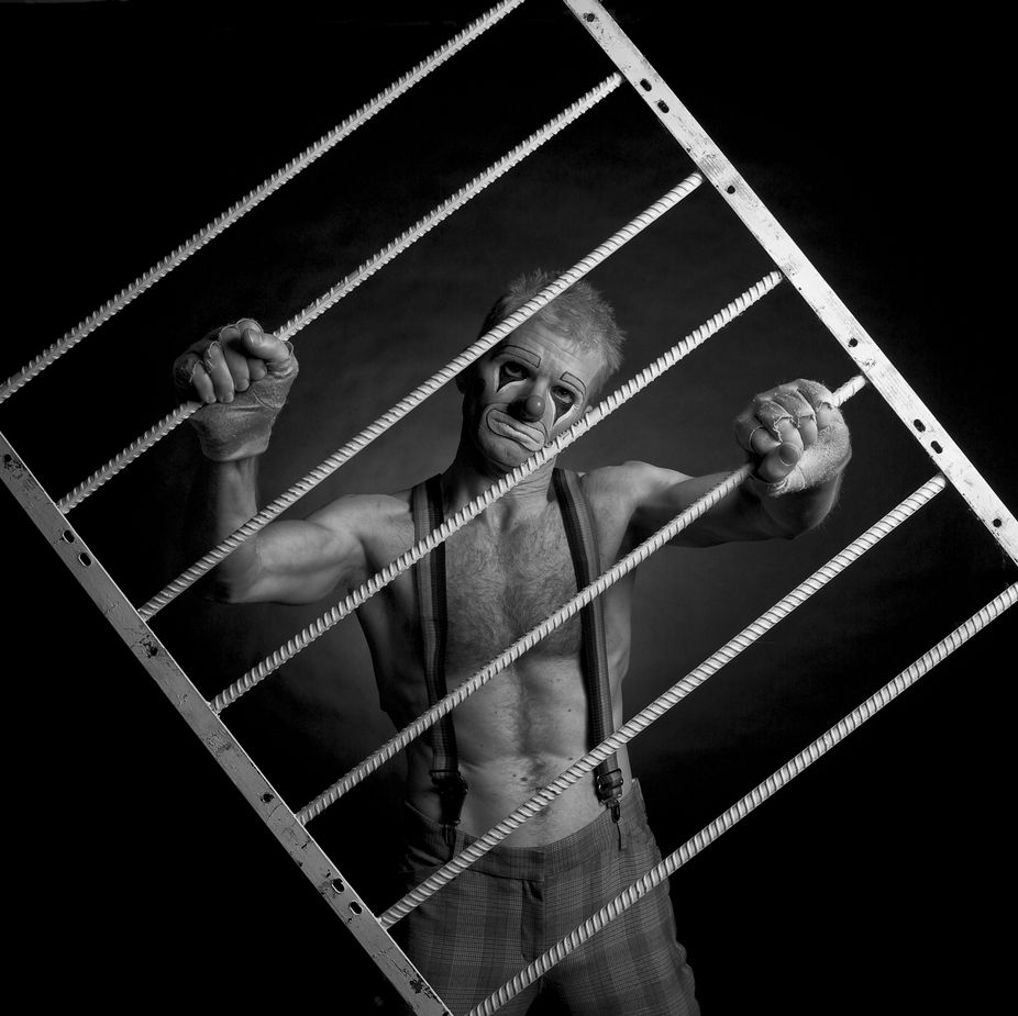 Caged Joy? by BlackBalance - Monochrome Creative Compositions Photo Contest