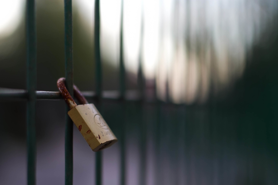 A solitary lock waiting for his owner.
