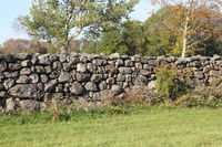 Old New England Stone Wall