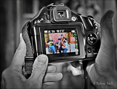 Behind the other  photographer ..