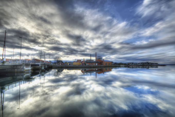Stege - the harbour by kimschou - Cloud Painting Photo Contest