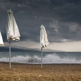 At the end of the summer, in a beach at Kalamata, Greece.