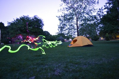 Camping with Glowsticks