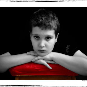This is a portrait of my youngest son Kieran. The 'Isolation' title was an idea based on Autism which has my full support.