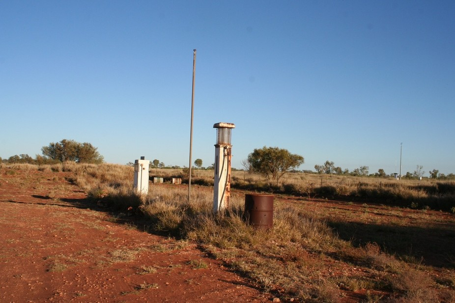 Petrol pumps, out along the Tanami Track