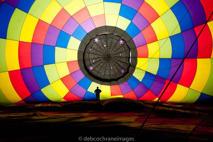 Man and his Balloon by debcoimages - Show Balloons Photo Contest