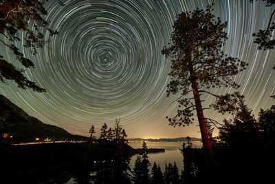 Startrails Over Lake Tahoe