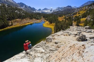 Photographer in John Muir Wilderness