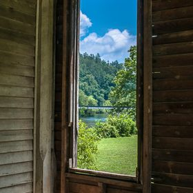 Taken from the front porch of the Vaughn-Webb House in Reliance, TN, this house was built in 1899 by the Hiwassee Union Church as a community bui...