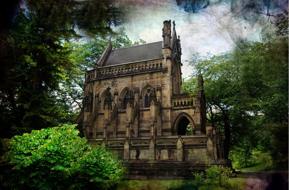 Cincinnati-Ohio Spring Grove Cemetery The most eerie structure in the cemetery is the Dexter Maus...