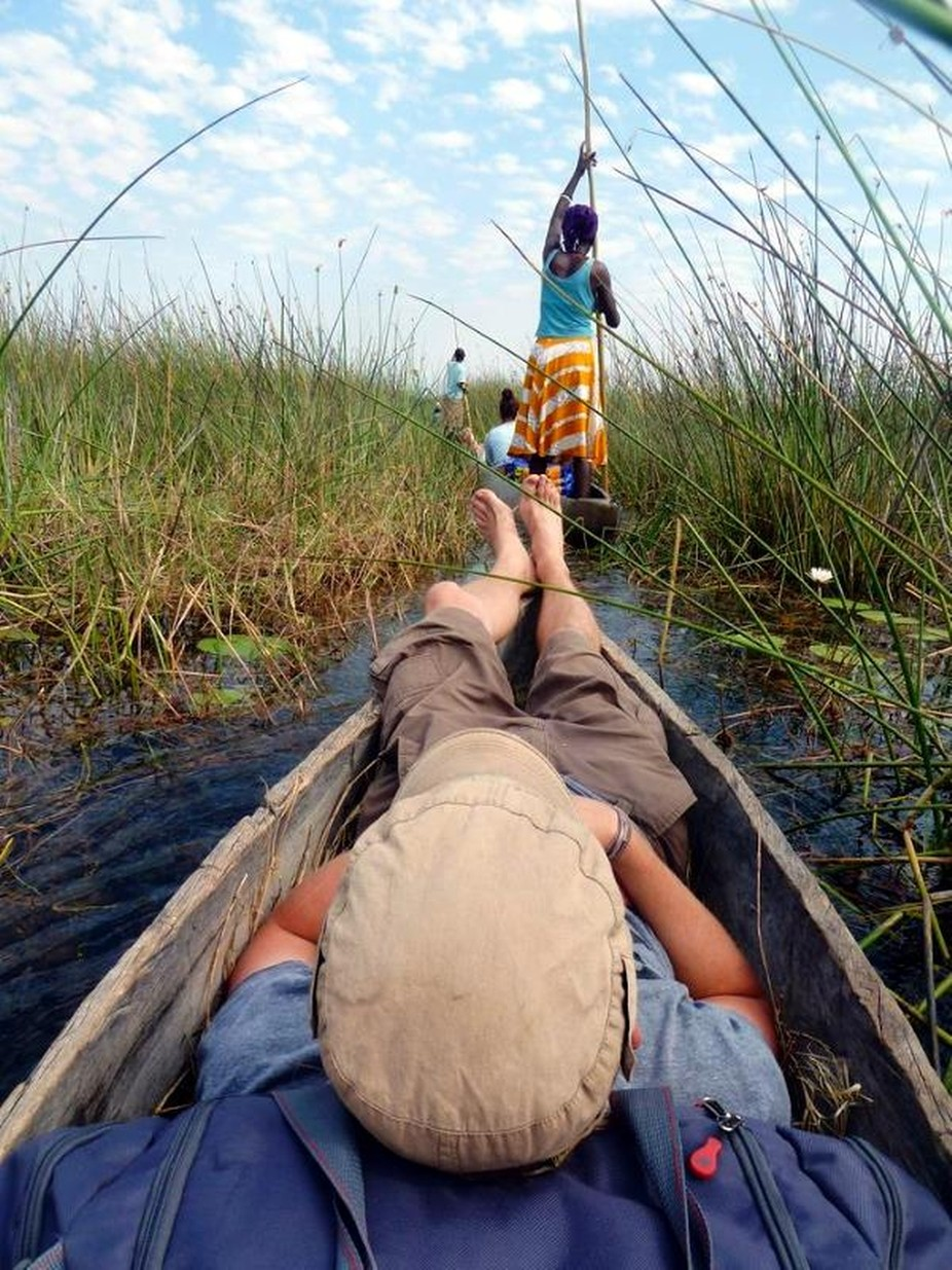 Mokoro into the Okovango Delta by Pardus - Happy Moments Photo Contest