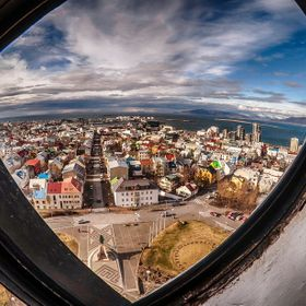 Reykjavik from the church's tower, 75m above the ground